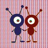 Two aliens in love galaxy royalty free illustration