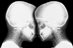 Two aliens face to face Stock Images