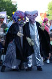 Two Aliens Playing Royalty Free Stock Photo