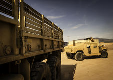 Two all-terrain vehicles designed for war Royalty Free Stock Image