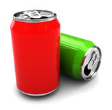 Two alluminum cans Royalty Free Stock Image