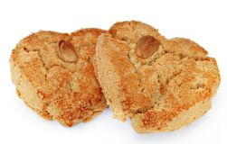 Two almond cookies Stock Photography