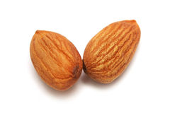 Two Almond Nuts Royalty Free Stock Image
