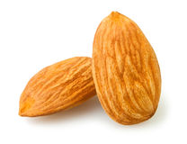 Two almonds Royalty Free Stock Photo