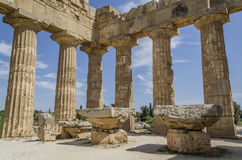 Two altars of the temple olympieion selinunte Royalty Free Stock Photo