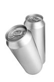 Two aluminium beer cans Stock Image