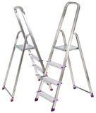 Two aluminium ladders Stock Image