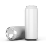 Two aluminum can for beer Royalty Free Stock Photo