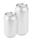 Two aluminum can isolated on white Stock Photo