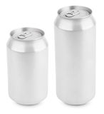 Two aluminum can isolated on white Stock Photography