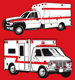 Two Ambulances Royalty Free Stock Photography
