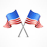 Two American flag vector illustration
