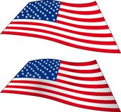 Two American Flags Stock Image
