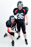 Two American football players Royalty Free Stock Image