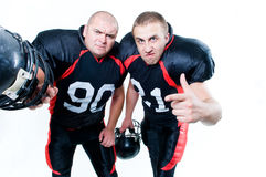 Two American football players Royalty Free Stock Photography