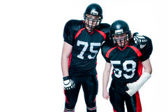 Two American football players Stock Images