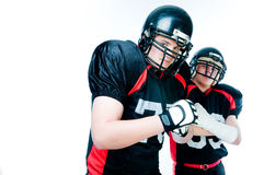 Two American football players Stock Image