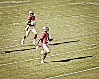 Two American Football Players (Abstract) Royalty Free Stock Photo