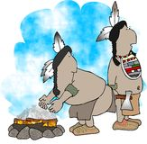 Two American Indians royalty free illustration