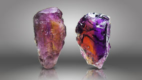 Two Amethyst Royalty Free Stock Images