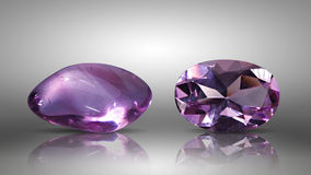 Two Amethyst Royalty Free Stock Image
