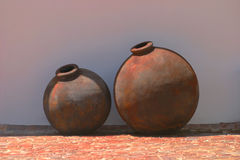 Two amphora for wine. In south africa on a vineyard Stock Photo