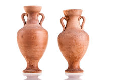 Two amphorae Stock Photos