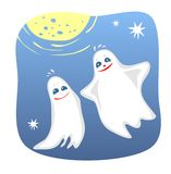 Two amusing ghosts Stock Image
