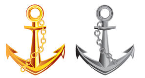 Two anchors Stock Photography