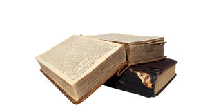 Two ancient books Royalty Free Stock Photo