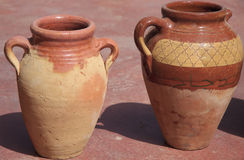 Two ancient clay jugs Royalty Free Stock Photo