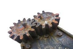 Two ancient cogwheels Stock Photo