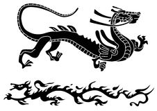 Two ancient dragons Royalty Free Stock Image