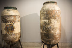 Two ancient wine amphoras Royalty Free Stock Photo