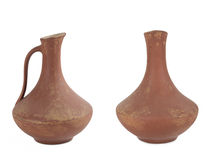 Two ancient wine jug Stock Images