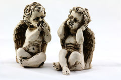 Two angel figurines Royalty Free Stock Images