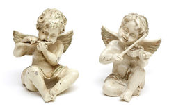 Two angel statues Stock Photos