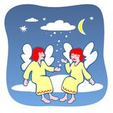 Two angels Royalty Free Stock Images