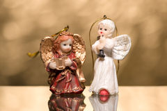 Two angels Stock Images