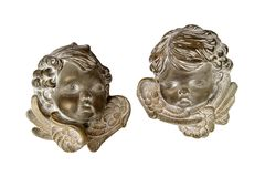 Two Angels Faces Stock Image