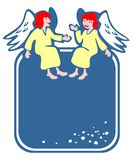 Two angels frame Stock Photos