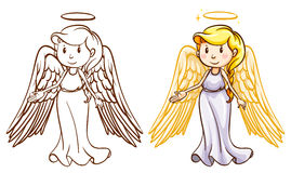 Two angels. Illustration of the two angels on a white background Royalty Free Stock Photo