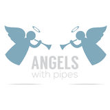 Two Angles With Pipes Vintage Style Royalty Free Stock Photography