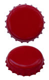 Isolated Red Metal Caps Royalty Free Stock Photos