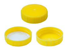 Isolated Yellow Plastic Cap Stock Photography