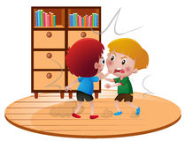 Two angry boys fighting. Illustration Royalty Free Stock Images