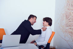 Two angry business colleagues during an argument Royalty Free Stock Photo