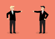 Two angry businessman are shouting on each other Royalty Free Stock Photo