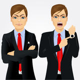 Two angry businessmen Royalty Free Stock Images