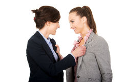 Two angry businesswomans. Stock Photo